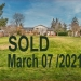 Sold   March 07 /2021